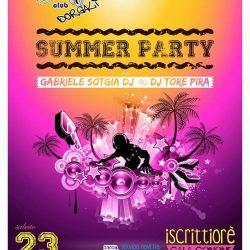 Summer Party a Iscrittiorè