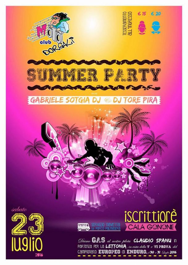 Summer Party a Iscrittiorè