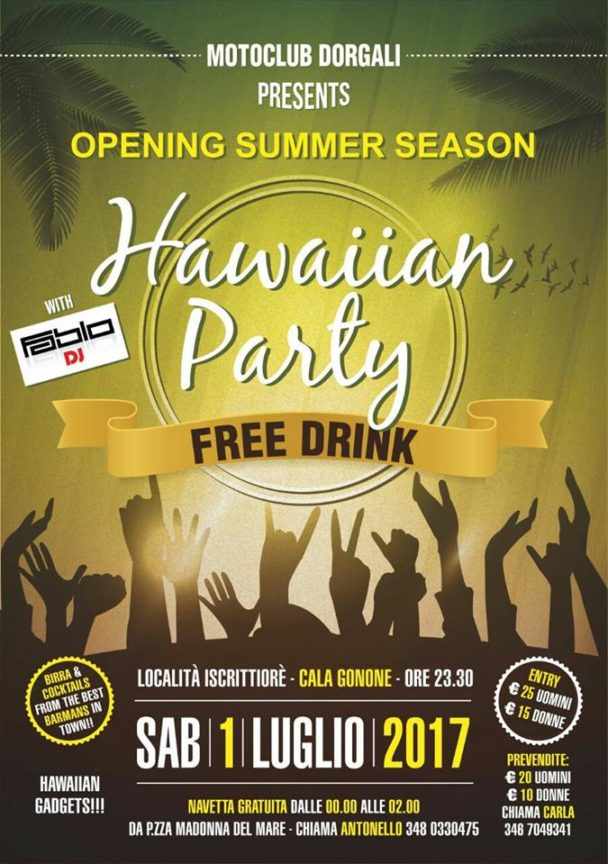 Hawaiian Party – Free Drink – 1 luglio 2017