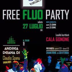 FREE FLUO Party – Sabato 27 luglio 2019 – Loc. Iscrittiorè Cala Gonone