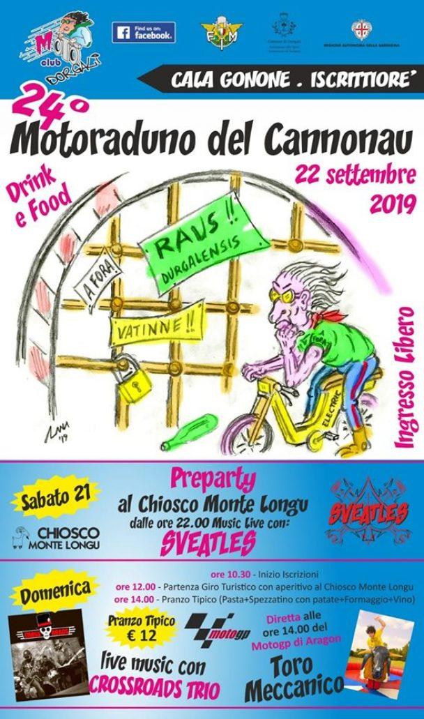24° Motoraduno del Cannonau – 22 settembre 2019 Cala Gonone Dorgali