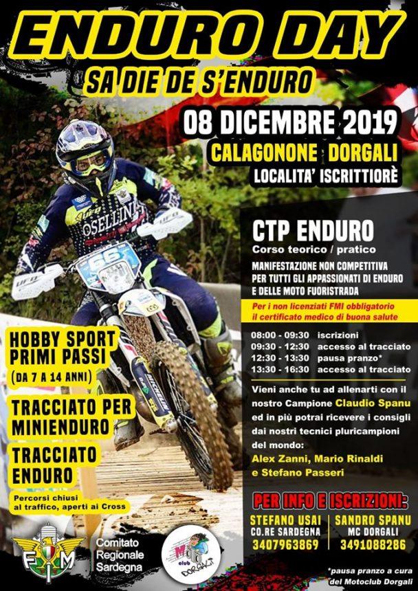 ENDURO DAY – SA DIE DE S'ENDURO – 8 dicembre 2019 Cala Gonone Dorgali