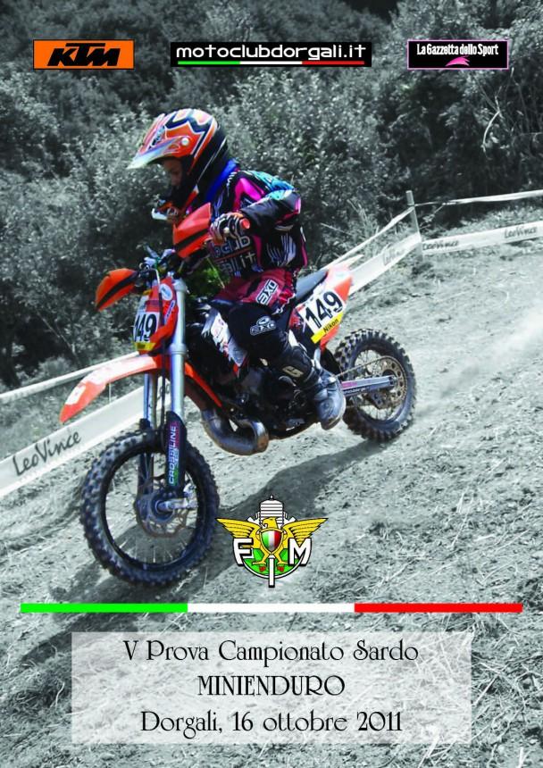 Trofeo Minienduro – 5a prova Campionato Sardo – 16 ottobre 2011 – Dorgali